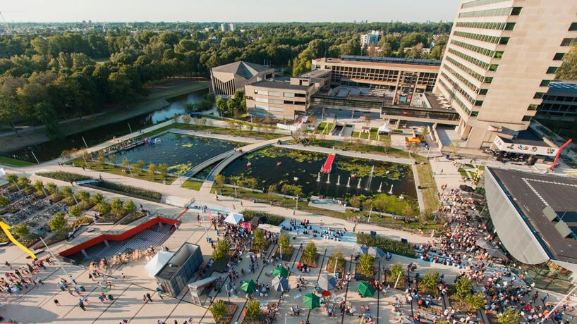 Plaza & Parkeergarage masterplan campus Woudestein