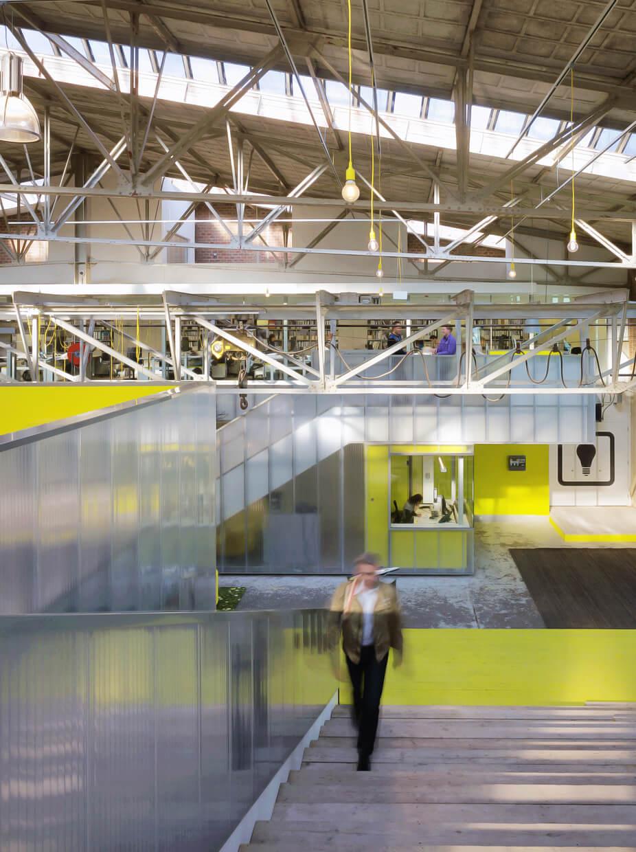 Kantoor IMd Raadgevende Ingenieurs, staalfabriek wordt speeltuin voor ingenieurs
